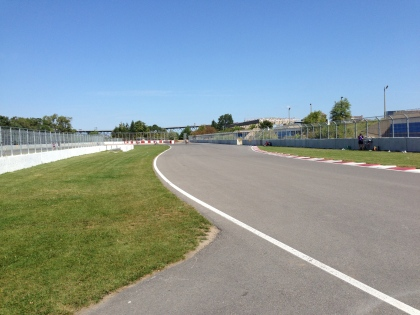 Exit of turn 11, L'Epingle.