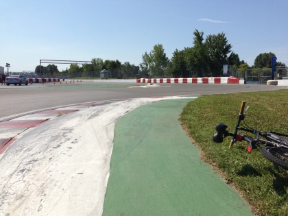 Curbs in turns 13 and 14.