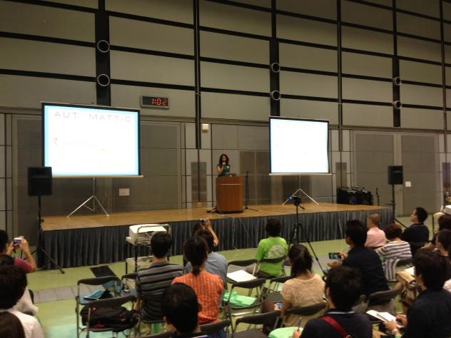 Sara during her keynote.
