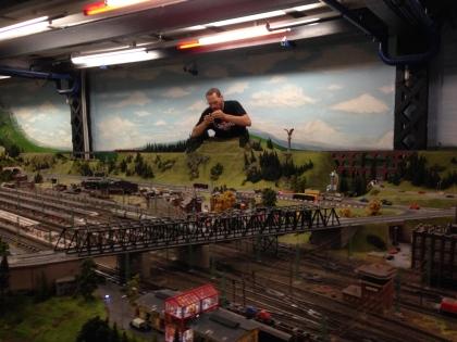 God, fixing a train.