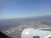 Approaching Los Angeles, CA.