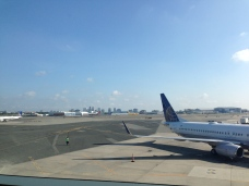 View from the United Club lounge at Newark.