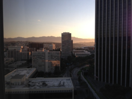 View from my hotel room during WordCamp Los Angeles.