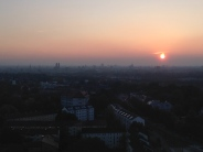Sunset over Munich, Germany.