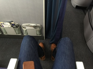 Documenting the leg room of row 16 in United's 787-8.