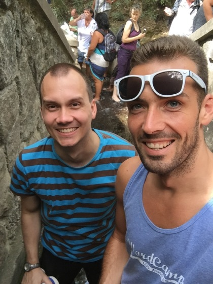 Seven Springs with Konstantin. We waded through ankle-high water…