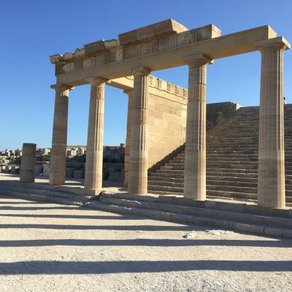 The columns.
