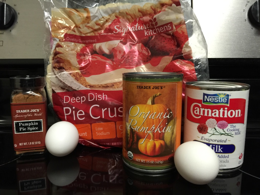 Ingredients for Pumpkin Pie