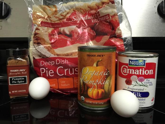 Ingredients for Pumpkin Pie