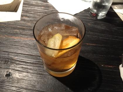 Buffalo Trace Bourbon, Luxardo Maraschino Liqueur, Angostura & House Blackstrap Bitters.