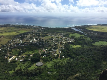 View of the city of Wailua.