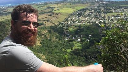 Gary enjoying the view of Wailua.