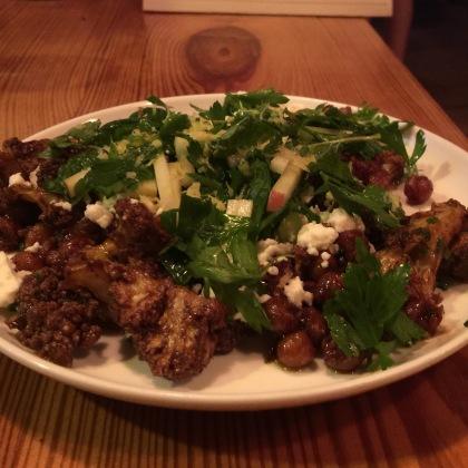 Ras el hanout, chickpeas, feta, herbs