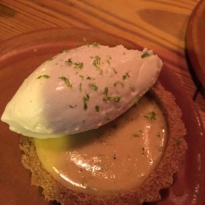 Key lime, graham cracker, condensed milk