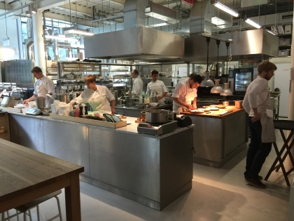Open kitchen, greeting you right when you enter the restaurant