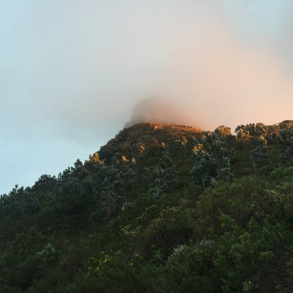 Lion's Head in the fog.