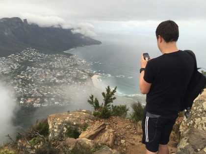 Job, taking a picture of Camps Bay.