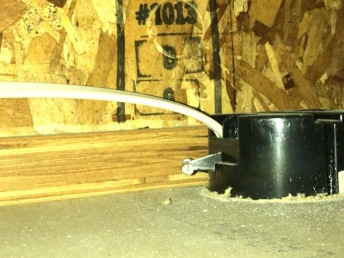 The existing junction box and wiring leading to it.
